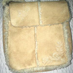 Sheepskin purse